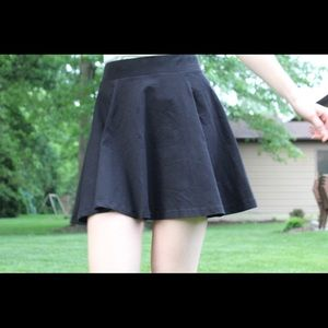 H&M Skirts - Black Skater Skirt